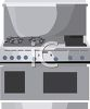 Stainless Stove Oven  clipart