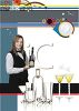 Bartender or Caterer on a Cocktail Menu Design clipart
