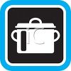 Black and White Pot Icon clipart