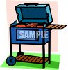 Cartoon Barbecue Grill clipart