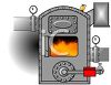 Cartoon of a Blazing Furnace clipart