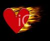 Flaming Heart Background clipart