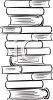 Tall Stack of Books clipart