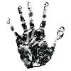 Inky Hand Print clipart