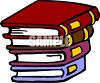 Stack of Four Cartoon Books clipart