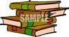 Stack of Text Books clipart