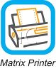 Business Icon-Matrix Printer clipart