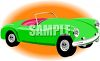 Lime Green Convertible clipart