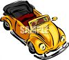 Convertible Volkswagon Type Car clipart
