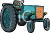 Cartoon of a Farm Tractor clipart