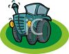 Cartoon of a Cute Tractor clipart
