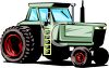 Large Size Tractor clipart