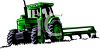Realistic Tractor Pulling a Tiller Blade clipart