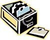 Library Card Catalog  clipart