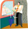 Man Tying His Necktie clipart