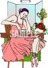 Prima Ballerina in Her Dressing Room clipart