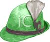Cartoon of a Hat-German Style Felt Hat with a Feather clipart