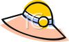 Cartoon of a Hat-Woman's Sun Hat clipart