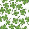 Shamrocks or Four Leaf Clovers Background clipart