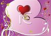 Gold Wedding Bands on a Heart Background clipart