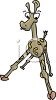 Baby Cartoon Giraffe Learning to Walk clipart
