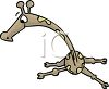 Funny Cartoon Giraffe clipart