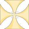 Gold Iron Cross Pattern clipart