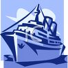 Cruise Ship on the Ocean clipart