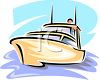 Pleasure Boat on the Ocean clipart