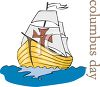 Columbus Day Spanish Boat clipart