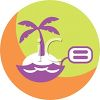 Beach Vacation Icon clipart