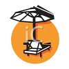 Beach Chair Icon for a Resort clipart