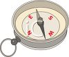 Compass Pointing East West clipart