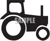 Silhouette of a Tractor clipart