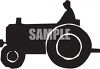 Silhouette of a Man on a Tractor clipart