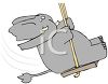 Elephant on a Swing clipart