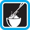 Bowl of Rice with Chopsticks Icon clipart