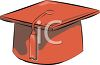 Red Graduation Cap with Tassel clipart