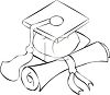 Graduation Cap and Diploma clipart