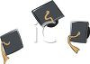 Graduation Caps Flying in the Air clipart