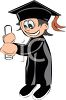 Cartoon Guy Graduating clipart