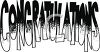Graduation Congratulations Word Art clipart