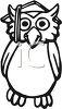 Graduation Cartoon of an Owl Wearing a Mortarboard Cap clipart