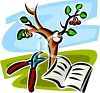 Pruning a Cherry Tree with a Book clipart
