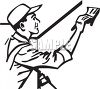 Handyman  Painting a Wall clipart