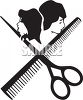 Hair Stylist or Salon Icon clipart