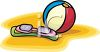 A Beach Ball And Pair Of Goggles clipart