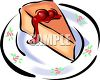 Slice of Cherry Cheesecake clipart