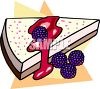 Blackberry Cheesecake with Topping clipart