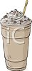 Chocolate Flavored Milkshake with Whipped Cream on Top clipart